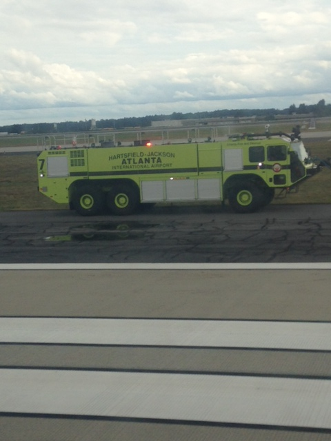 One of the Firetrucks waiting for us as we landed back in Atlanta after only 20 min in the air