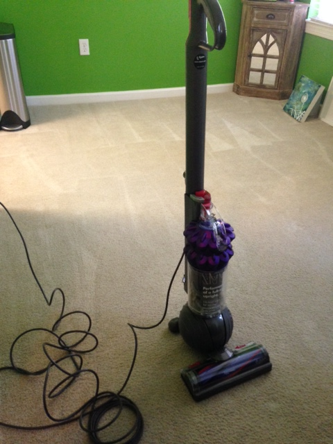 My super clean carpet after using my new Dyson.