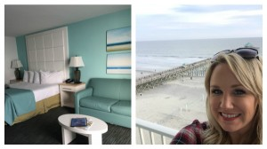 View of the room and from the room at Tides Hotel on Folly Beach